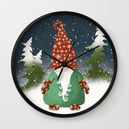 Winter Gnome Home Wall Clock