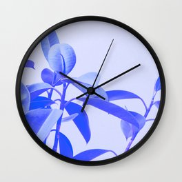 Rubber Plant Riso Wall Clock