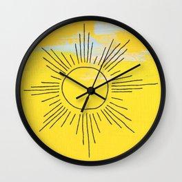 Boho Sunrise  Wall Clock
