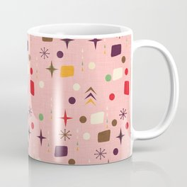 Atomic Pattern Pink Purple  #midcenturymodern Coffee Mug