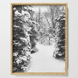 Winter Photography   Snowy Day Serving Tray