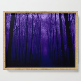 Deep Purple Forest Serving Tray