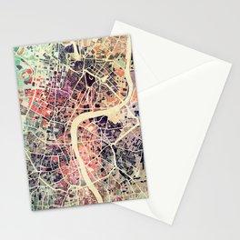 London Mosaic Map #1 Stationery Cards