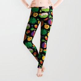 Fruit Medley Black Leggings