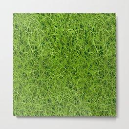 Green Grass Pattern Landscape Decoration Metal Print