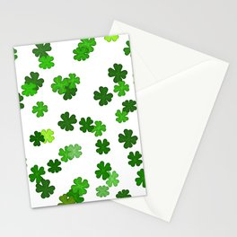 Shamrocks Falling - Pattern for Saint Patricks Day Stationery Cards
