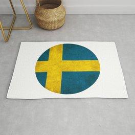 Sweden flag, circle Rug