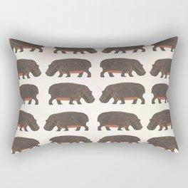 Hippo,hippo Rectangular Pillow