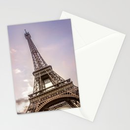 PARIS Eiffel Tower at sunset Stationery Cards
