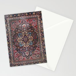 Persian Old Century Authentic Colorful Dusty Blue Pink Brown Vintage Patterns Stationery Cards