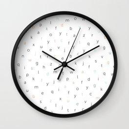 ABC Black white blue orang Wall Clock