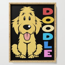 Goldendoodle Cute Doodle Dog Owner Poodle Pet Serving Tray