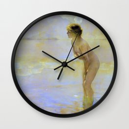 Paul Emile Chabas - September Morn - Paul Emile Chabas Wall Clock