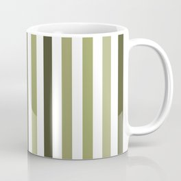 Simple Green Shade Vertical Strips - Color Lines Coffee Mug