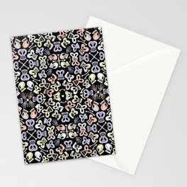 Scary skulls having fun celebrating the Day of the Dead Stationery Cards
