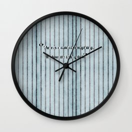 Where the light emerges Wall Clock