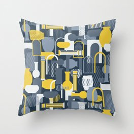 Vases and Bowls (Hanging Gardens) Throw Pillow