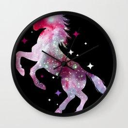 Unicorn horse glitter icelanders Wall Clock