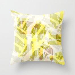 Yellow Buckets Throw Pillow