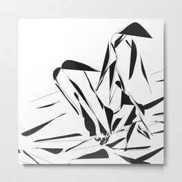 Sexy Feet at white room Metal Print