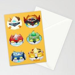 Halloween Pumpkin Robot Parfait Stationery Cards
