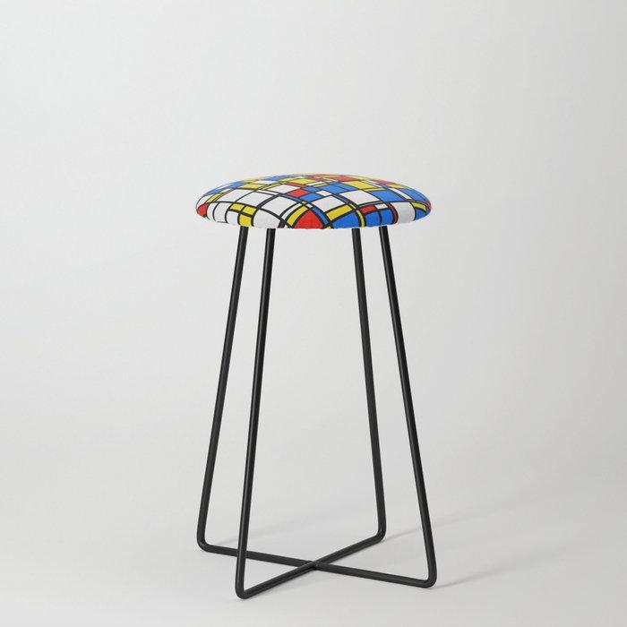 Mondrian Style 2 Counter Stool