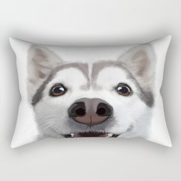 Young husky Rectangular Pillow