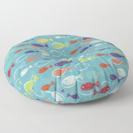 Fish poissons 100 Floor Pillow