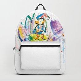 Dwarf in a flower Backpack