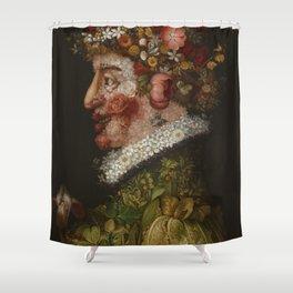 "Giuseppe Arcimboldo ""Four seasons - Spring"" Shower Curtain"