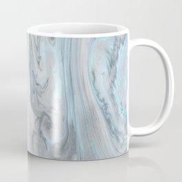 Ice Blue and Gray Marble Coffee Mug