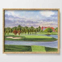 East Lake Golf Course Atlanta GA 15th Hole Serving Tray