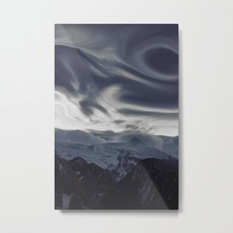 La vue des montagnes Metal Print