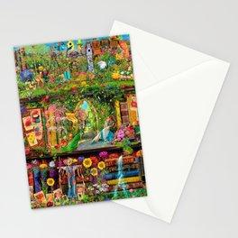 The Secret Garden Book Shelf Stationery Cards