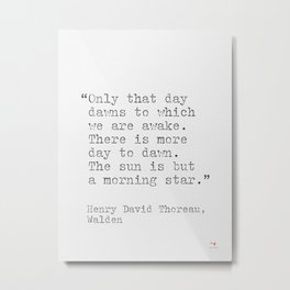 Thoreau quote Metal Print