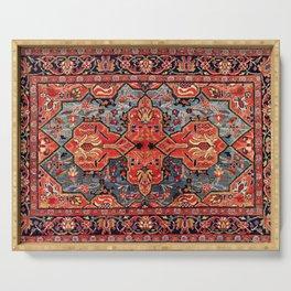 Kashan Poshti Central Persian Rug Print Serving Tray