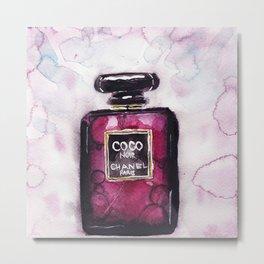 Noir perfume - Watercolor fashion illustration Metal Print