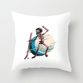 Eis Hockey Skelett Torhüter Throw Pillow