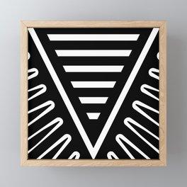Feather Root Black Framed Mini Art Print