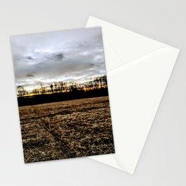 Mothership above the fields Stationery Cards