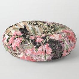 Vintage Floral Music Note Paper Floor Pillow