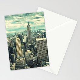 new york city panoramic view skyline Stationery Cards