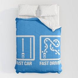 Fast Car - Fast Driver v4 HQvector Comforters