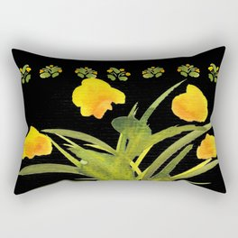 Atom Flowers #34 Rectangular Pillow