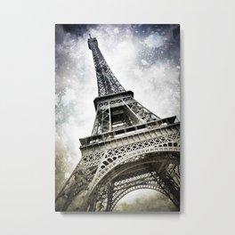 Modern Art PARIS Eiffel Tower Splashes Metal Print