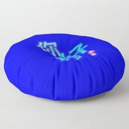 BLUE HELLO Floor Pillow