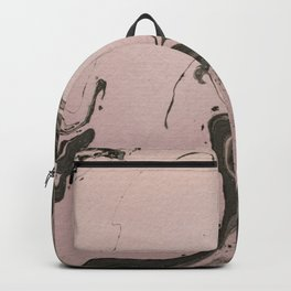 Pink and gray marbled paper IV Backpack
