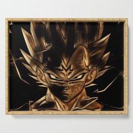Dragon Ball Vegeta Artistic Illustration Energy Style Serving Tray