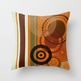 Retro Color 01 Throw Pillow