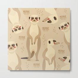 Meerkat, African Wildlife Metal Print